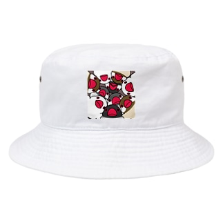 みっちりむっちり過密文鳥さん【まめるりはことり】 Bucket Hat