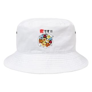 密です!鳥まみれ3密【まめるりはことり】 Bucket Hat