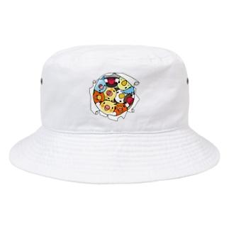 三密です!むちむち鳥まみれ【まめるりはことり】 Bucket Hat