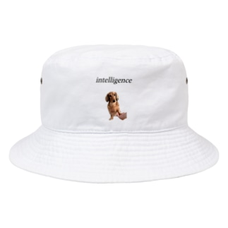 知的なワンコ Bucket Hat