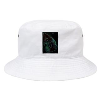 Akieem Zawadi's SHOPのGreen Rip Bucket Hat