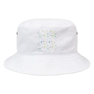 まめるりはことりのたっぷりセキセイインコちゃん【まめるりはことり】 Bucket Hat