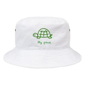 PaP➡︎Poco.a.Pocoの亀ちゃん Bucket Hat