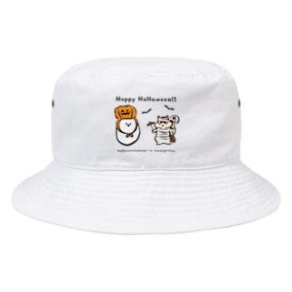ハロウィンたまごと強がリス Bucket Hat