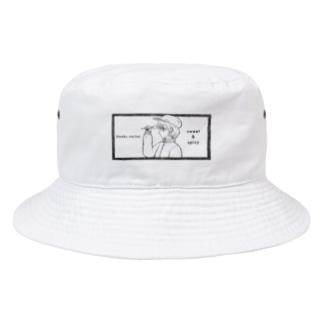 -ウマクナリタイ-キャスケット女子 黒 Bucket Hat
