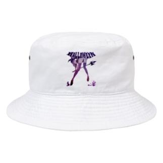 HALLOWE'EN WITCH 彼女はウィッチ パープル Bucket Hat