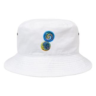 相互引力イラスト Bucket Hat