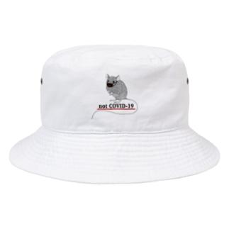 notコロナ マスクネズミ Bucket Hat