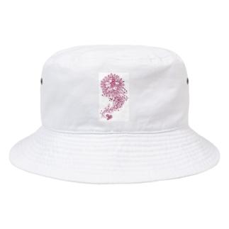 ピンクのインドリヤちゃん Bucket Hat
