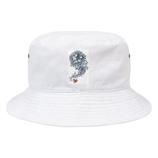 紺のインドリヤちゃん Bucket Hat