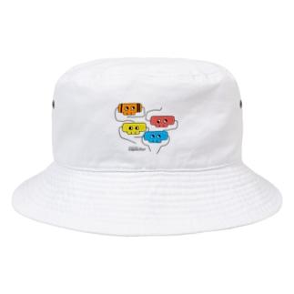 ドクロのコンデンサー2 Bucket Hat