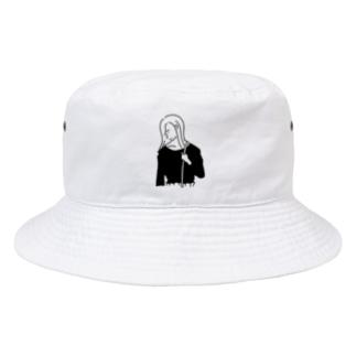 Girl ガール #4イラスト Bucket Hat