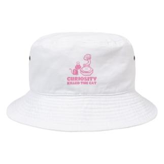 好奇心は猫を殺す(pink) Bucket Hat