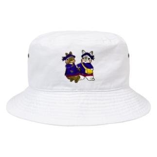 アトリエねぎやまの園児うさちゃんず。 Bucket Hat