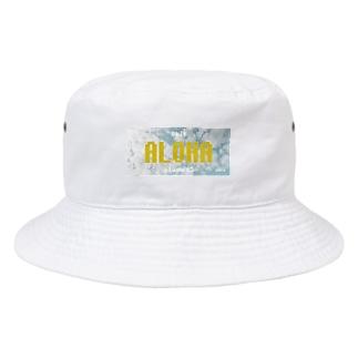 ナンバープレート【ALOHA】 Bucket Hat
