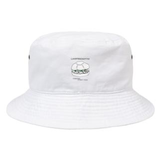ランプレイラスト 黒文字パターン Bucket Hat
