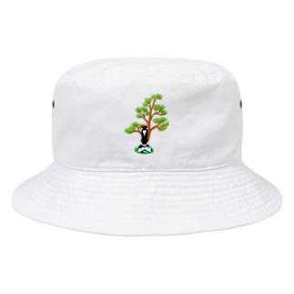 瞑想の松(文字なし) Bucket Hat