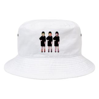 三人の女の子 Bucket Hat