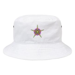 星 ピンク Bucket Hat