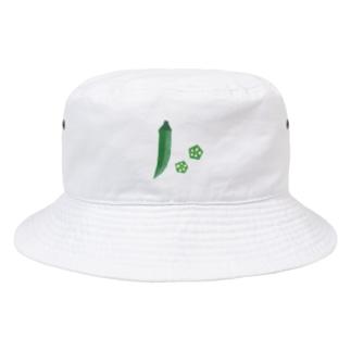 yorimichiのオクラ Bucket Hat