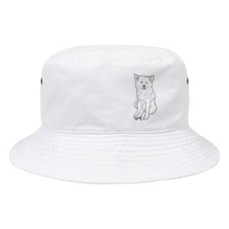 ZAZEN白秋田犬 Bucket Hat