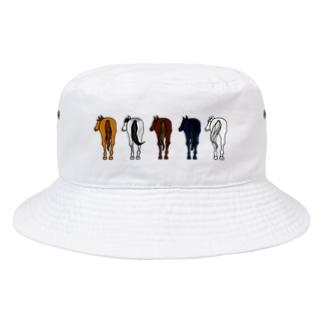 【うまけつ】サラブレッド Bucket Hat