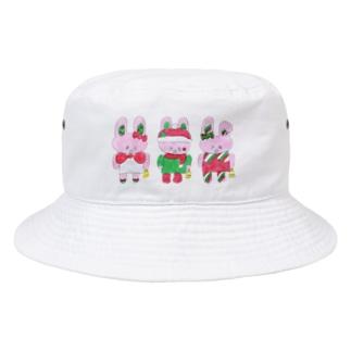 うさぎクリスマス Bucket Hat
