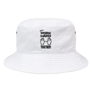 D.R.E.A.M. BUY10 (次元反応拡大活動委員会売店)のL.W.H.T.(Lets Work Hard Together)桶帽子 Bucket Hat