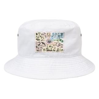系統樹マンダラ【真獣類編】 Bucket Hat