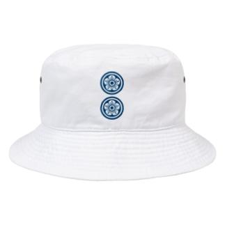 麻雀牌 2筒 リャンピン 漢字のみ<筒子> Bucket Hat