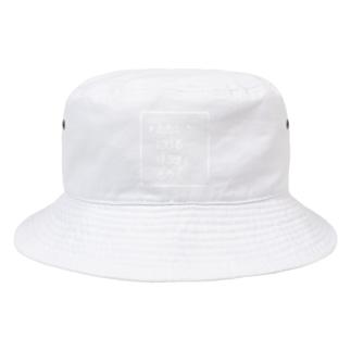 たたかう にげる ぼうぎょ どうぐ 白ロゴ Bucket Hat