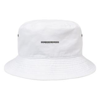 英題バーコード(黒) Bucket Hat