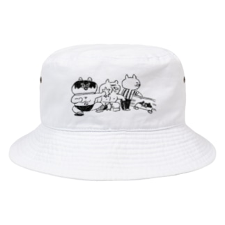 ねこちゃんレスラー Bucket Hat