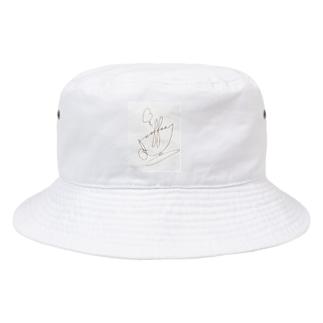 """繋ぎ文字""""Coffee""""のカップデザイン(ネームセンスなくてスミマセン) Bucket Hat"""