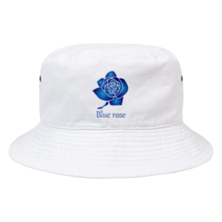 blue rose Bucket Hat
