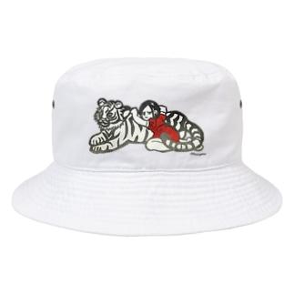 虎と女の子「依存」 Bucket Hat