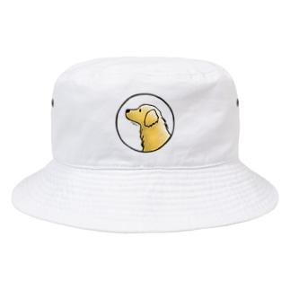 ゴールデン・レトリーバー〈水彩風・円〉 Bucket Hat