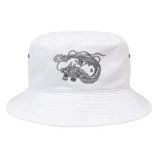 ゆるめの龍の図 Bucket Hat