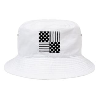 circle & road (Black) Bucket Hat