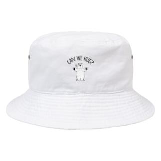 シロクマさんのハグアピール Bucket Hat
