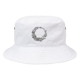 Ashcolor 3のFlower リース Bucket Hat