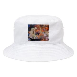 オディロン・レドン / Flower Clouds / 1903 / Odilon Redon. Bucket Hat