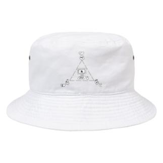 ネット勝負 Bucket Hat