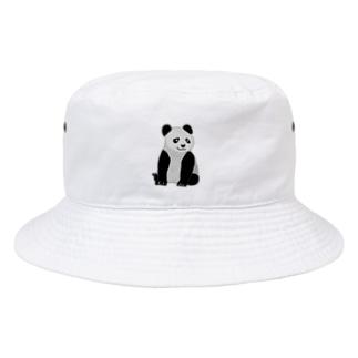 おすわりパンダ Bucket Hat