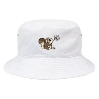 リスのラルレットバケットハット Bucket Hat