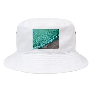 抽象画家ShizukiKagawaのみどりのふんすい Bucket Hat