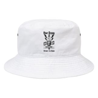 HSMT design PLUG Ver.2 BLACK Bucket Hat
