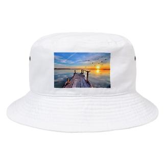 海沿いの夕日 Bucket Hat