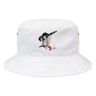 海老を仕留める猫 Bucket Hat