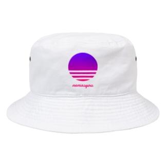 【寄付】nemasyou suns【パープル】 Bucket Hat